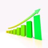 Finansowa grafika Zdjęcia Stock