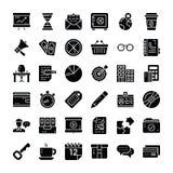 Finansowa I Biznesowa ikony paczka ilustracja wektor