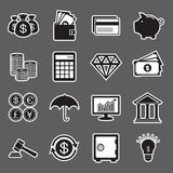 Finansowa majcher ikona Obraz Royalty Free