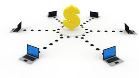 finansowa technologia royalty ilustracja