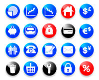 finansowe biznes ikony Fotografia Royalty Free