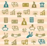 Finansowe ikony Obrazy Stock
