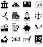 Finansowe ikony Fotografia Stock