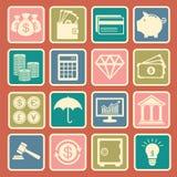finansowe ikony Obrazy Royalty Free
