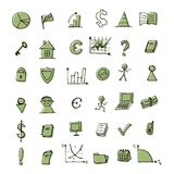 finansowe projekt ikony ustawiają twój Obraz Royalty Free