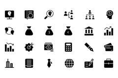 Finansowe Wektorowe Stałe ikony 1 Obrazy Stock