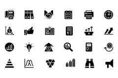 Finansowe Wektorowe Stałe ikony 4 Zdjęcia Stock