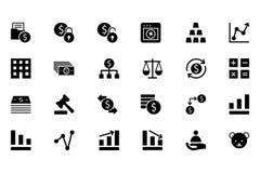 Finansowe Wektorowe Stałe ikony 2 Obraz Stock