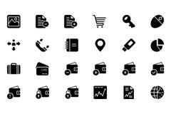Finansowe Wektorowe Stałe ikony 5 Zdjęcie Stock