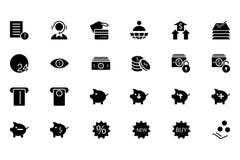 Finansowe Wektorowe Stałe ikony 10 Obraz Stock