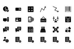 Finansowe Wektorowe Stałe ikony 9 Obrazy Stock