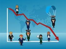 Finansowi ludzie biznesu ilustracji