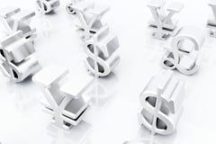 Finansowi symbole ilustracji
