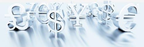 Finansowi symbole Obrazy Royalty Free