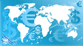 finansowy świat royalty ilustracja