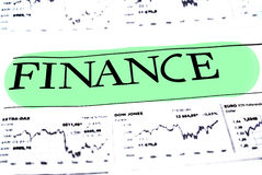 Finansowy dane pojęcie Obraz Royalty Free