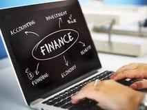 Finansowy finansowanie handlu biznesu pojęcie Obrazy Royalty Free