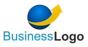 finansowy firma logo Obraz Royalty Free