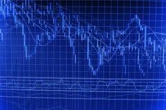 Finansowy giełdy papierów wartościowych tło Obraz Stock