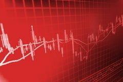 Finansowy giełdy papierów wartościowych tło Obrazy Stock