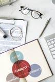 Finansowy gospodarki zarządzania ryzykiem pojęcie Fotografia Royalty Free