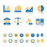 Finansowy i biznesowy ikona set royalty ilustracja