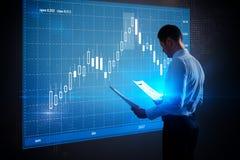 Finansowy i cyfrowy bankowości pojęcie Zdjęcia Royalty Free