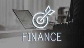 Finansowy Inwestorski pieniądze gotówki ikon grafika pojęcie Zdjęcia Stock