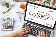 Finansowy Inwestorskiej bankowości kosztu pojęcie Obraz Royalty Free