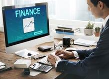 Finansowy księgowość depozytu inwestyci pojęcie Zdjęcia Stock