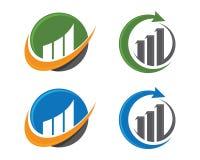 Finansowy logo Obrazy Royalty Free