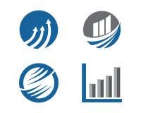 Finansowy logo Zdjęcie Royalty Free