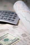 finansowy ogłoszenie towarzyskie Obraz Stock