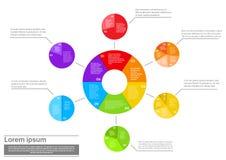 Finansowy Pasztetowego diagrama Infographic dokument Pieniężny Obraz Stock