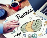 Finansowy pieniądze długu wydatku handlu pojęcie obrazy royalty free