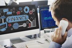 Finansowy Pieniężny gospodarka budżeta księgowości pojęcie Zdjęcie Royalty Free