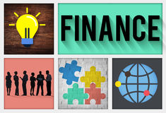 Finansowy Pieniężny gospodarki Inwestorskiej bankowości pojęcie ilustracji
