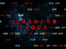 Finansowy pojęcie: Biznesów narzędzia na Digital Fotografia Stock