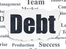 Finansowy pojęcie: Dług na Poszarpanym Papierowym tle Fotografia Royalty Free