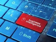 Finansowy pojęcie: Głowa Z Lightbulb o i business intelligence Obraz Royalty Free