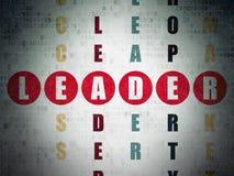 Finansowy pojęcie: słowo lider w rozwiązywać Crossword Obraz Royalty Free
