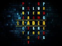 Finansowy pojęcie: słowo lider w rozwiązywać Crossword Obrazy Royalty Free