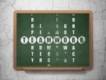 Finansowy pojęcie: słowo praca zespołowa w rozwiązywać Zdjęcie Stock