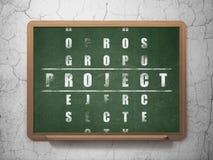 Finansowy pojęcie: słowo projekt w rozwiązywać Crossword Obrazy Stock