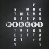 Finansowy pojęcie: słowo rynek w rozwiązywać Crossword Fotografia Stock