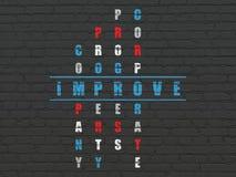Finansowy pojęcie: słowo Ulepsza w rozwiązywać Crossword Fotografia Stock