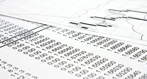 finansowy raport Obraz Stock