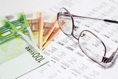Finansowy raport obrazy royalty free