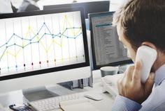 Finansowy Raportowy księgowość statystyk biznesu pojęcie Zdjęcia Stock