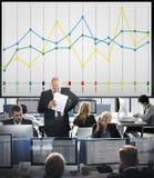 Finansowy Raportowy księgowość statystyk biznesu pojęcie Obraz Royalty Free